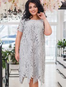Нарядное кружевное платье для полных 50, 52, 54, 56