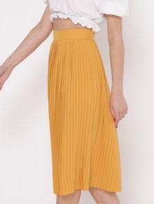 Летняя плиссированная юбка длины миди