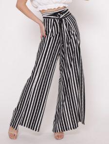 Летние расклешенные брюки с поясом