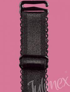 Широкие Черные бретели для бюстгальтера 18mm