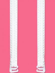 Широкие белые бретели для бюстгальтера больших размеров