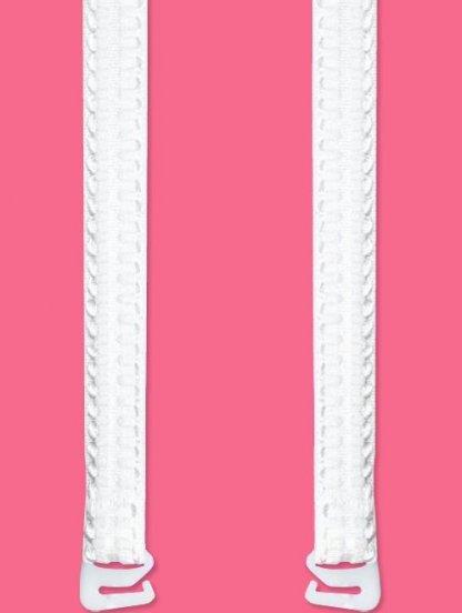 Широкие белые бретели для бюстгальтера больших размеров, фото 1