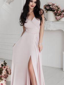 Вечернее длинное платье на тонких брителях с шелка Армани