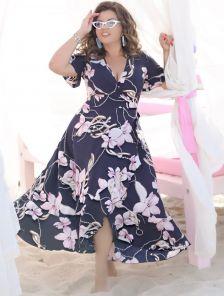Платье свободного кроя длины миди