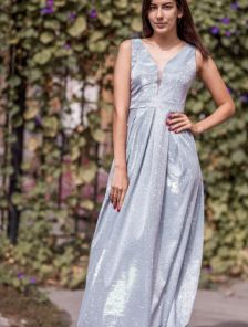 Нарядное вечернее платье из сияющего люрекса