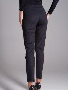 Базовые зауженные брюки на резинке с боковыми карманами