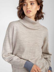 Базовый одтнотонный свитер, 18% шерсть, 15% альпака