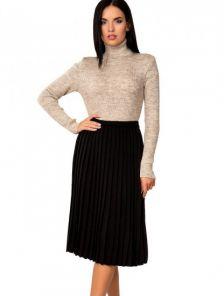 Черная плиссированная юбка на резинке