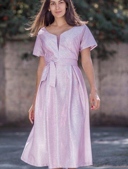 Вечернее платье большого размера на короткий рукав, фото 1