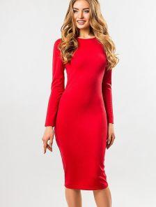 Классическое красное платье-футляр