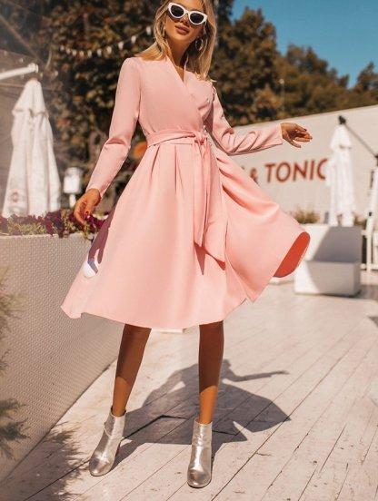 Платье короткое нарядное на длинный рукав, фото 1
