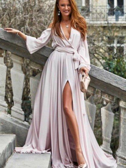 Вечернее пудровое платье, фото 1