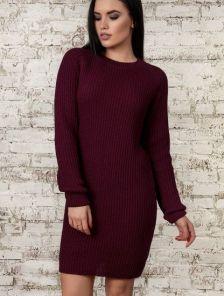Оригинальное женское теплое платье 40% шерсть, 10% мохер