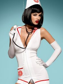 Игровой костюм-платье медсестры со стетоскопом
