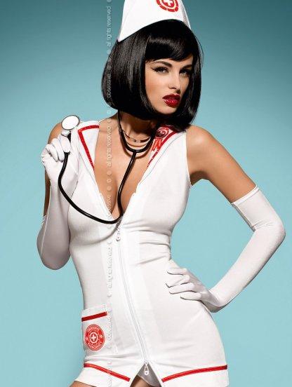 Игровой костюм-платье медсестры со стетоскопом, фото 1