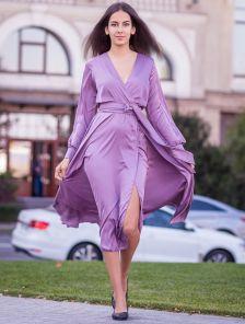 Длинное нарядное платье макси на длинный рукав