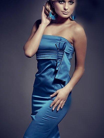 Коктейльное платье без бретелей и лямок, фото 1