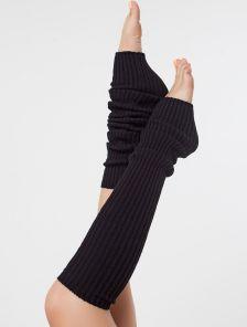 Черные женские теплые гетры 60 см.