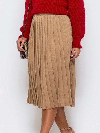 Женская плиссированная теплая юбка, фото 1