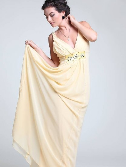 Длинное платье для выпускного вечера с камнями, фото 1