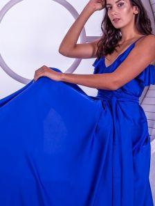Длинное платье в пол с воланами