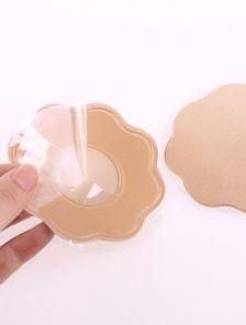 Силиконовые наклейки на грудь с тканевым покрытием