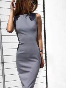 Платье футляр длины миди