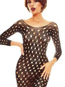 Эротическое черное платье чулок в сеточку