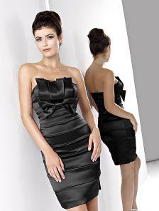 Вечернее черное мини платье футляр черного цвета
