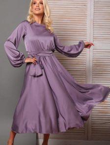 Вечернее платье миди с шелка Армани