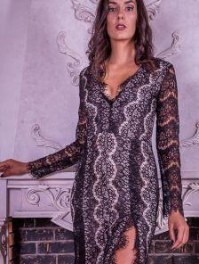 Гипюровое сексуальное платье