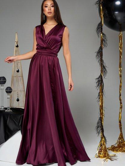Длинное шелковое платье большого размера, фото 1