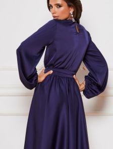 Красивое нарядное миди платье на длинный рукав