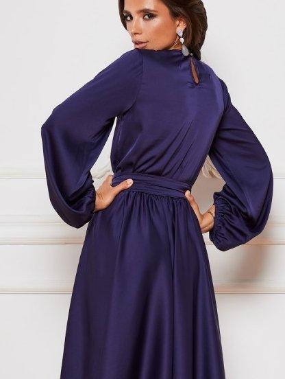 Красивое нарядное миди платье на длинный рукав, фото 1