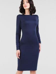 Офисное платье-футляр на длинный рукав