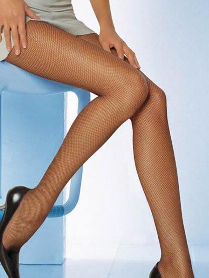 Сексуальные эластичные колготки в сетку цвета капучино, фото 1